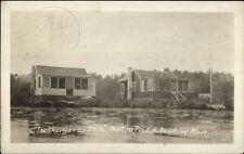 North Reading MA Charles & La Stella Martins Pond c1910 Real Photo Postcard