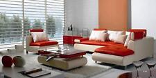 Modern White Red Leather Sectional Living Room Sofa Set 3P VIG Divani Casa B205