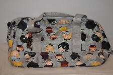 "HARAJUKU LOVERS GRAY GIRL NYLON PURSE  BAG CUTE GIRLS 13"" X 7"" X 6"""