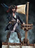 1/32 54mm Resin Figure Model Kit Captain Jack Sparrow (with base) Unpainted