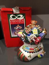 Fitz & Floyd Omnibus Toyland Ceramic Cookie Jar