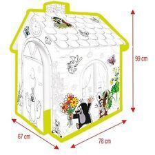 Der Kleine Maulwurf Spielhaus aus Pappe Pappspielhaus zum Bemalen Haus Karton
