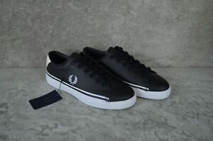 2020 Fred Perry B7155 - A19 Authentic Shoes Leather Black US 5 EU 37