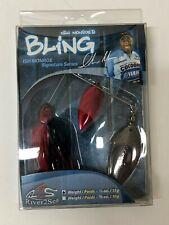 Ish Monroe BLING Spinner Bait 1/2Oz Fishing Bass Black Nickel blooded E35