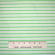 """Flannel Fabric - Home for Holidays Christmas Stripe Green Riley Blake 30"""""""