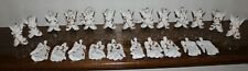 Set of 23 Vintage Gold and White Angel Christmas Ornaments
