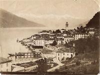 Italia Bellagio B Lago Di Como Bosetti Vintage Albumina Ca 1880