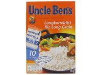 Lot 80 paquets  Riz long grain sachet, Uncle Ben's 80x125 g DLC LONGUE