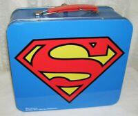 Superman Metal Lunchbox DC Comics and Warner Bros. Large Size Vintage