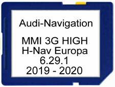 Audi MMI 3G HIGH Navigation das kompl.Update Europa EU2019/2020 (6.29.1)  NEU