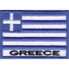 [Patch] BANDIERA GRECIA cm 7 x 5 toppa ricamata ricamo GREECE -013