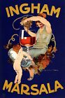 Ingham Marsala Wine Woman Squeezing Grapes Cupido Vintage Poster Repro FREE S/H