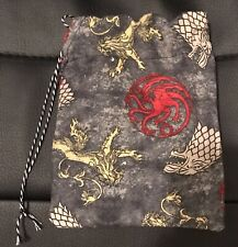 Game Of Thrones D&D Dungeons & Dragons Game Dice Bag handmade (large)