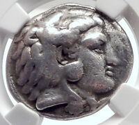 PHILIP III, Alexander the Great Brother Silver Greek TETRADRACHM Coin NGC i72071