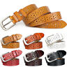 Womens Hollow Out Buckle Leather Waist Belt Wide Stretch Jeans Waistband Belts