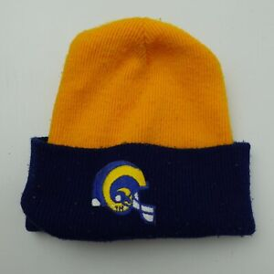 Los Angeles Rams Football Skull Stocking Winter Cap Hat Fitted Adult