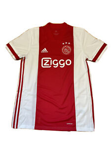 Adidas Men's 2020-21 Ajax Amsterdam Home Soccer Jersey Red FI4798 Size Small