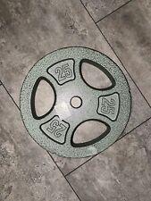 "CAP 25 LB Cast Iron Barbell 1"" Standard Weight Plates- Single Plate Dumbbell"