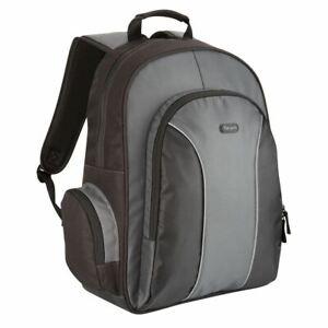 "NEW Targus Essential 15.6"" Laptop Backpack Notebook Bag TSB023EU Black & Grey UK"