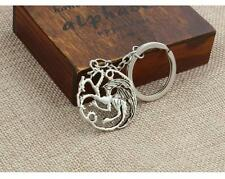 Charms Silver Dragon Game of Thrones Inspired Targaryen Pendant Key Chain Ring