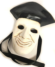 Pirate Pulcinella Mask Hand made by Italian Craftsman