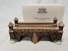 Dept 56 Heritage General Village 1988 Stone Train Tressel 59811 Retired 1990