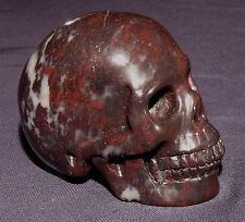 Naturgetreuer Edelsteinschädel Skull, Chin. Blutstein 93,5g 49x42x32mm