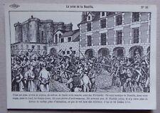 HF65) CP histoire de France Carlier : la prise de la Bastille