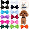 5PCS Pet Collar Bow Tie Dog Cat Puppy Adjustable Wedding Party Formal Neck Tie