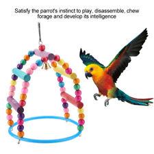 Pet Bird Parrot Hanging Swing Cage Toy Chew Bite for Parakeet Cockatiel Cockatoo