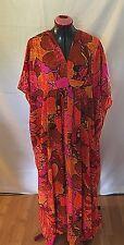 Vintage Caribbean Cotton Dress Bold Print Kaftan Caftan Dashiki Plus 1x 2x 3x