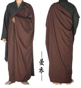详情 少林寺和尚连衣裙 Zen 佛教 KESA 神父教士服长袍冥想功夫套装- 显示原刊登标题