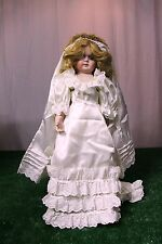 Porcelain Bride Doll - New never displayed. From the 1990s