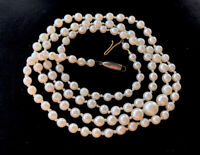 """Antique Vintage Hand Knotted 9ct Gold 23"""" Graduated Pearl Necklace GIFT BOXED"""