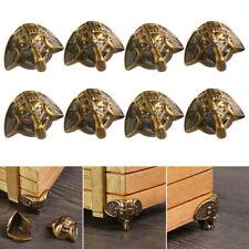 8pc Vintage Elephant Jewelry Chest Wine Box Case Decor Feet Leg Corner Protector