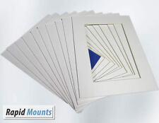 "10 Pack Mounts for Pictures/Photo frames- White Core board. Sizes 6x4"" - 16x12"""