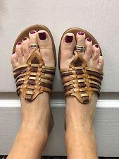 DANELLE by Franco Sarto Multi-Colored Thong Flip Flop Leather Sandals Sz 8.5M