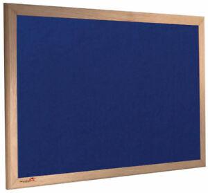 Oak Wooden Framed Noticeboard with Blue Felt 1800mm x 1200mm