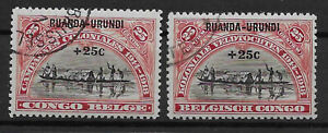 Ruanda-Urundi - 1925 - COB 77/8 - Used -