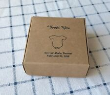 40x Custom Baby Bodysuit Kraft Paper Baby Shower Favour Boxes Personalised Gifts