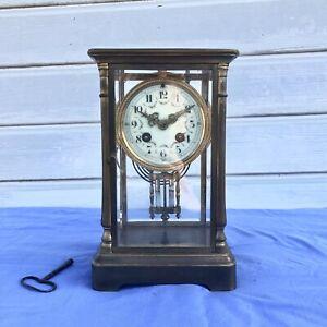 Pendule Horloge Bronze Balancier Mercure
