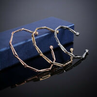 Women Adjustable Twisted Open Cuff Bracelet Bangle Charm Fashion Jewelry Gift