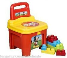 Licensed Disney Mickey Mouse Storage Seat With Blocks