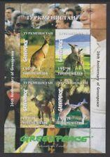 Turkmenistan - 1997, Anniversary of Greenpeace, Kangaroos sheet - MNH