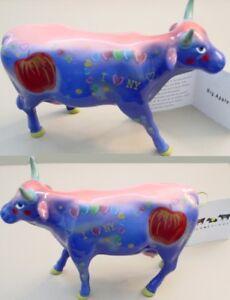 """BIG APPLE"" NYC 2000 Westland COW PARADE Figurine Figure Style #9163"