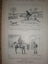 Following the Hounds cartoons 1901 prints