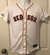 Boston RED SOX Dustin PEDROIA Button Jersey - Majestic MLB - Youth XL