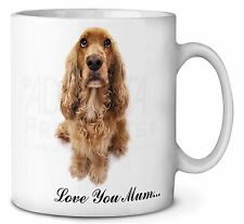 Cocker Spaniel CHIEN ' Love You Mum' café / Mug Thé Noël Bas, ad-sc22lymmg