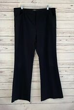 Body by Victoria Women's 16 The Christie Fit Black Dress Pants Stretch Flare Leg