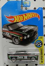 BMW 1973 RACE 3.0 CSL CASTROL 7 SPORTS CAR BLACK 4 57 RALLY 2017 HW HOT WHEELS